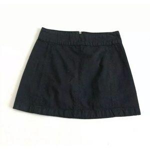 Free People Mini Jeans Skirt A-Line Black Size 6